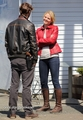 Set Photos - 1x04 - Jennifer Morrison & Jamie Dornan