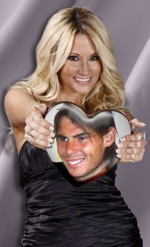 Shakira look alike and Rafa Nadal hart-, hart