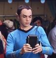 Sheldon Cooper as Spock.. hehe xD