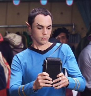 Sheldon Cooper as Spock.. hehe xD
