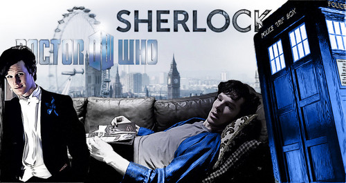 Sherlock and Doctor Who - eleven-and-sherlock Photo