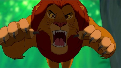 The Lion King kertas dinding containing Anime called Simba Attack
