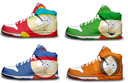 South Park karatasi la kupamba ukuta entitled South park high tops