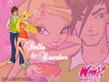 Stella and Brandon - stella-from-winx-club wallpaper