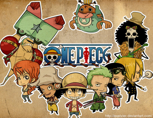 One Piece achtergrond probably containing anime entitled Chibi Strong World