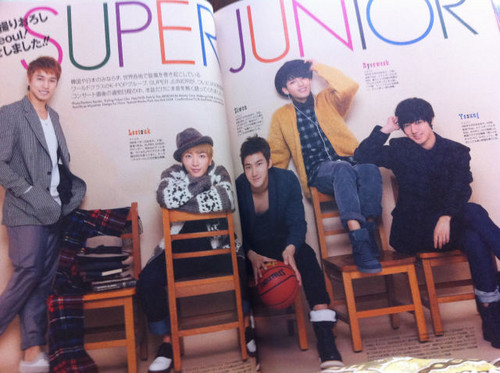 Super Junior for VIVI Japanese Magazine