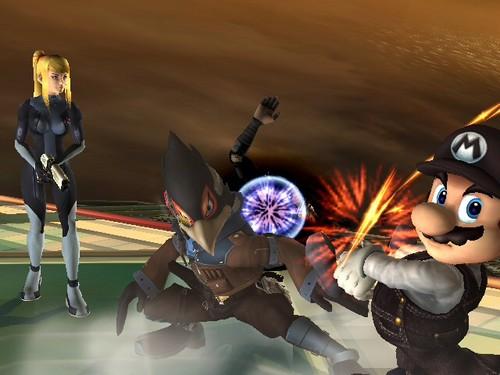 Super Smash Bros. Brawl karatasi la kupamba ukuta called Super Smash Bros
