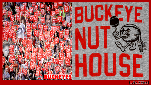 Ohio State universidad baloncesto fondo de pantalla called THE BUCKEYE NUT HOUSE