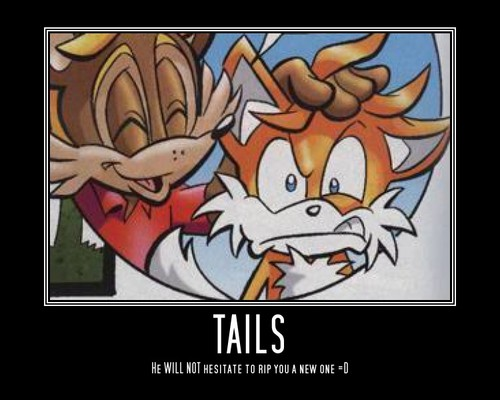 Tails Modivational poster