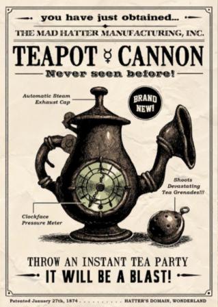 Teapot 大砲, キャノン