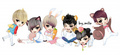 Teen Top chibi - teen-top fan art