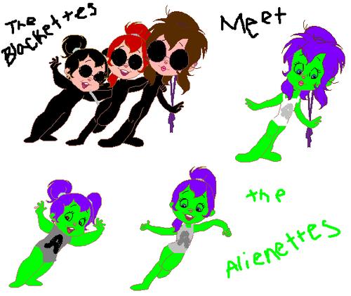 The Blackettes meet the Alienettes