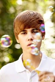 The biebs blowing bubbles