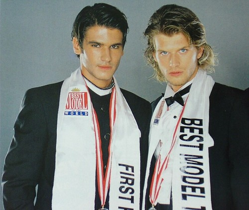 Tolgahan Sayışman and Kıvanç Tatlıtuğ at the Best Model of Turkey contest