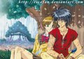 Van and Hitomi - the-vision-of-the-escaflowne photo