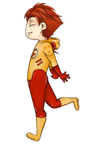 Young Justice- Kid Flash fondo de pantalla titled Wally