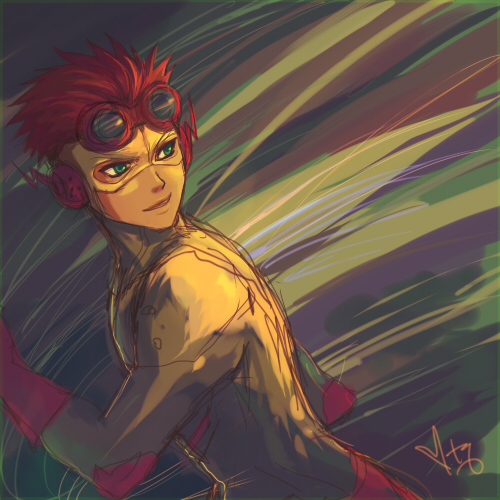 Young Justice- Kid Flash fondo de pantalla with anime entitled Wally