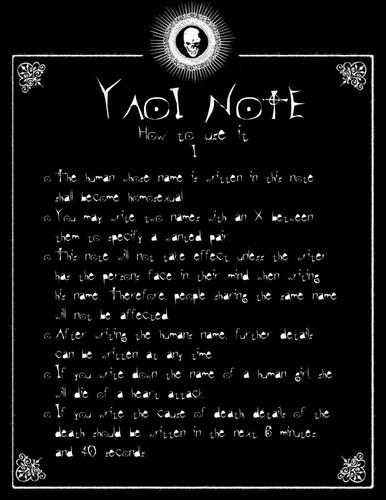 yaoi Note