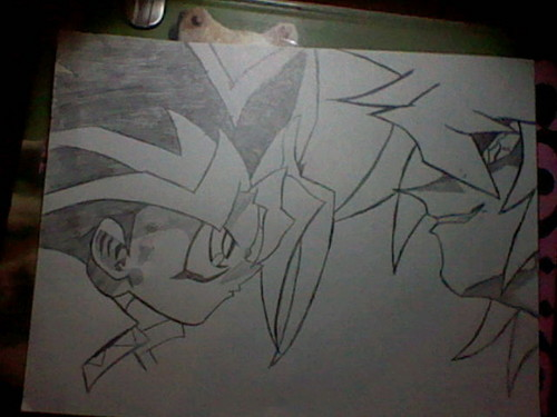 Yugi and Bakura face to face