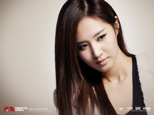 kwon Yuri karatasi la kupamba ukuta containing a portrait called Yuri @ JCE Freestyle Online Promotion Picture