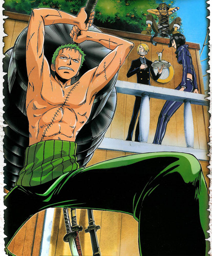 One Piece kertas dinding with Anime titled Zoro - Sanji - Usopp - Robin