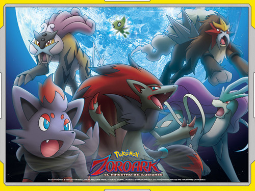 Zoroark and the legendary chiens