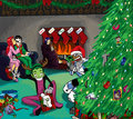 a teen titans christmas
