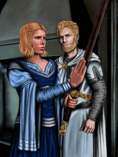 A Song of Ice and Fire wallpaper titled Brienne of Tarth & Jaime Lannister