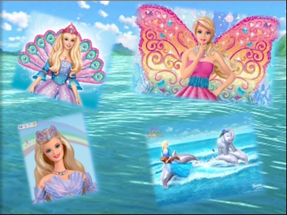 búp bê barbie collage