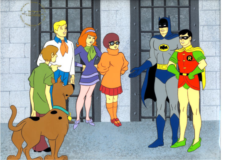 batman and Robin on Scooby Doo!!!!!