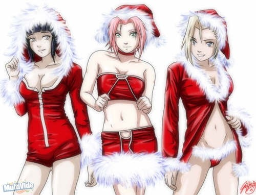 naruto shippuuden fondo de pantalla probably with anime titled navidad girls