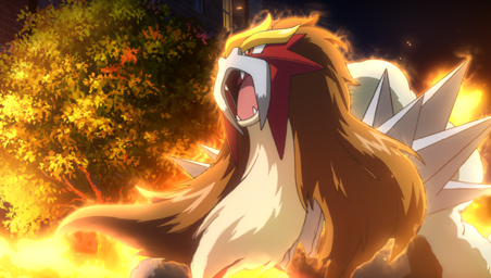 maalamat pokemon wolpeyper with a apoy called entei