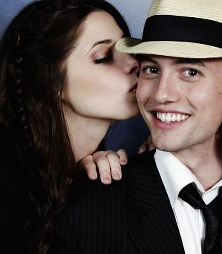 Jackson Rathbone & Ashley Greene wallpaper containing a fedora, a boater, and a business suit entitled jashley