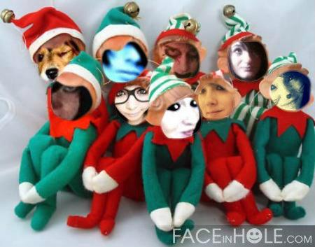 哈哈 family of elfs!! :P