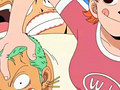 nami playful with zoro - nami-and-zoro screencap