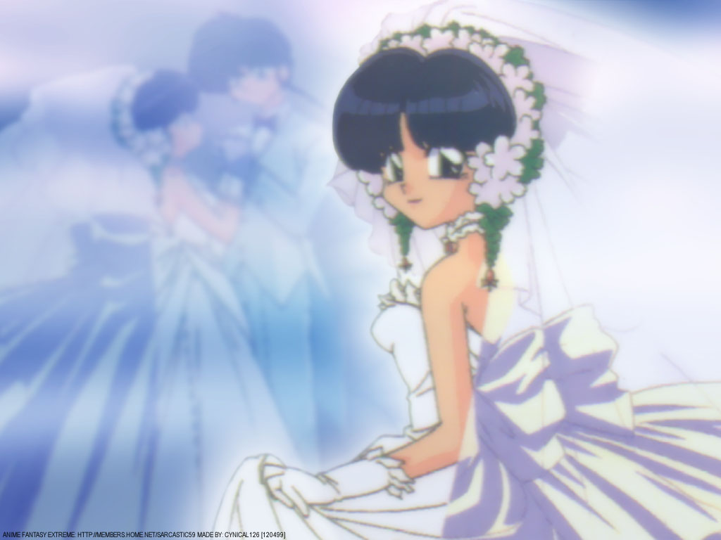 ranma 12 images ranma and akane wedding hd wallpaper