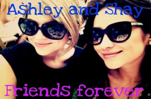 shay mitchell & ashley x