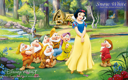 snow white with dwarfs