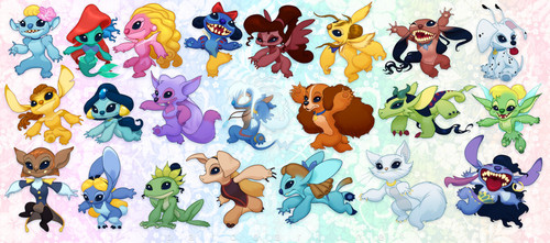 stitchified Disney ladies