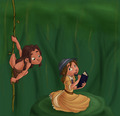 tarzan and jane - classic-disney fan art