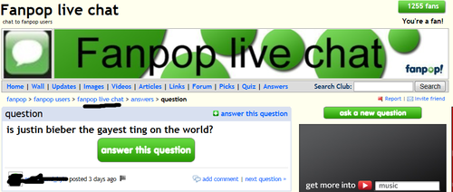 what does justin bieber have to do with live chat..?!