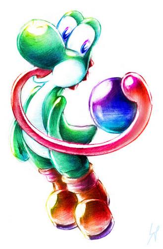 yoshi w/ a ball :D