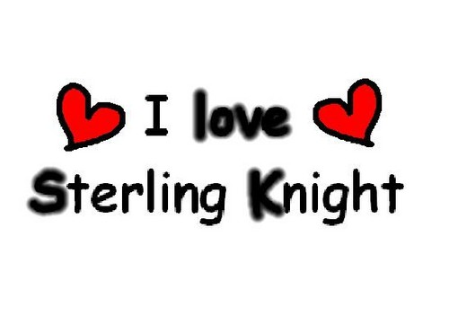 Sterling Knight karatasi la kupamba ukuta possibly with a portrait titled <3