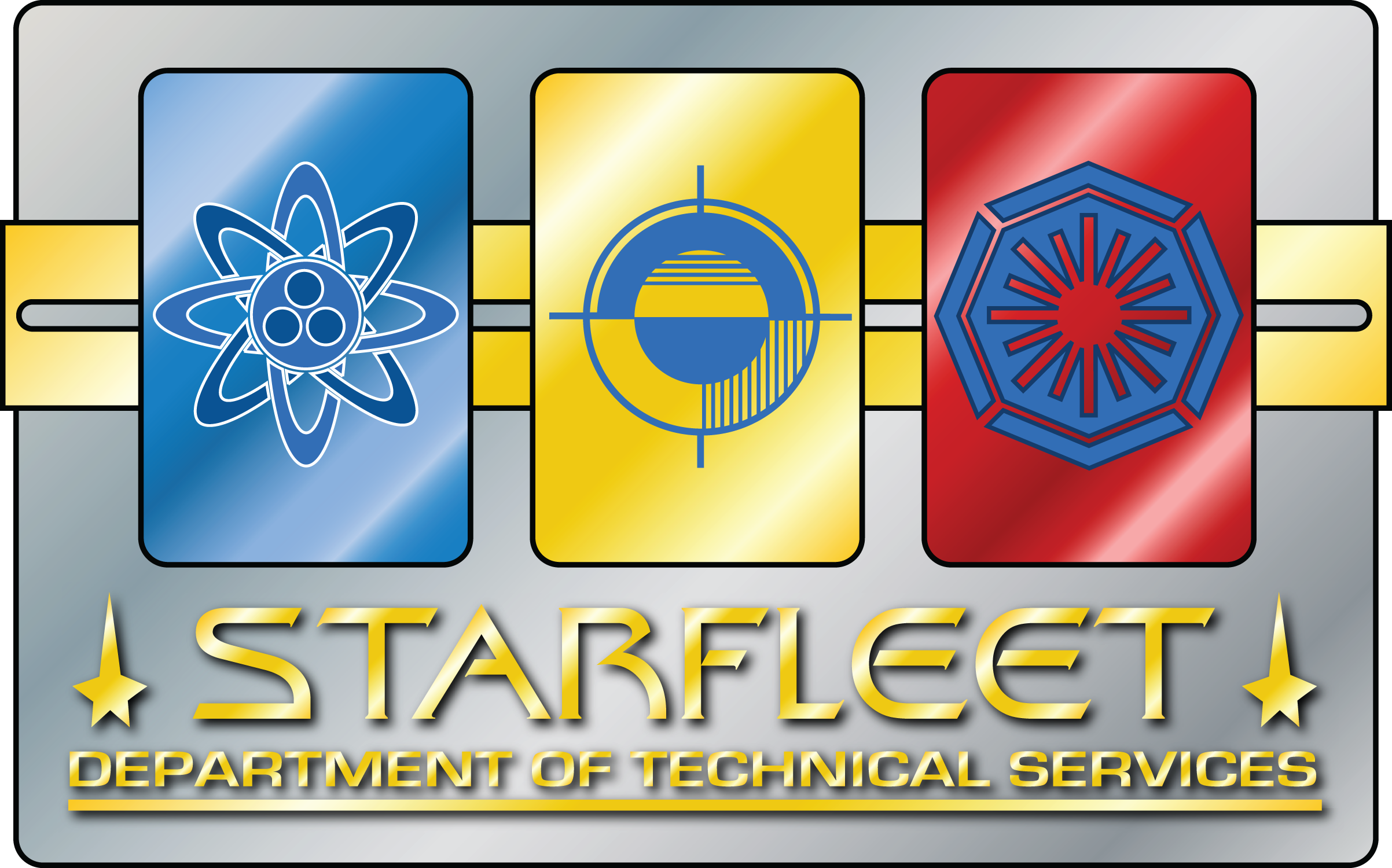 «Logo of the Department of Technical Service» [«Star Fleet» «UFP» ]