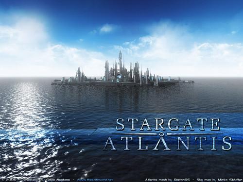 Stargate wallpaper entitled «Звёздные Врата - АТЛАНТИДА» [ «Stargate ATLANTIS» ]