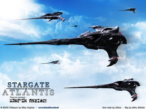 Stargate wallpaper possibly with a helicopter called «Звёздные Врата - АТЛАНТИДА» [ «Stargate ATLANTIS» ]