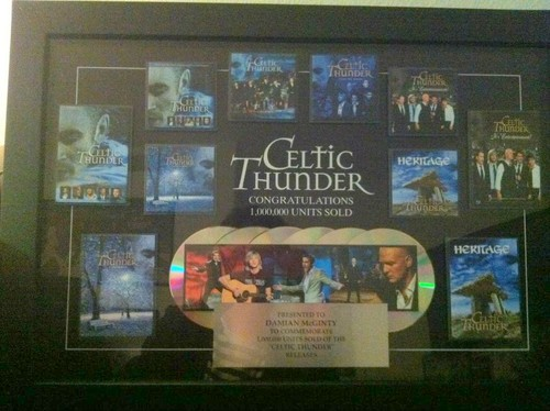 1,000,000 Units sold of Celtic Thunder releases