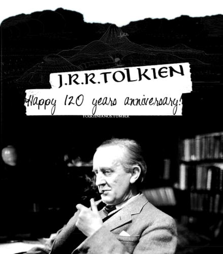 J.R.R. Tolkien fond d'écran titled 120 years Tolkien – To the Professor! |
