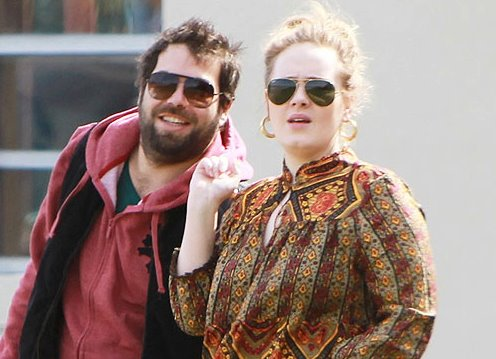 Adele and new boyfriend, January