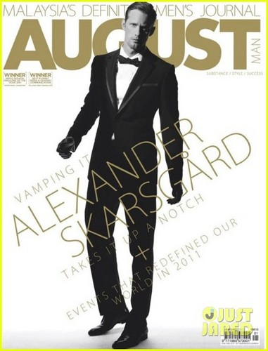 Alexander Skarsgard Covers 'August Man' January 2012